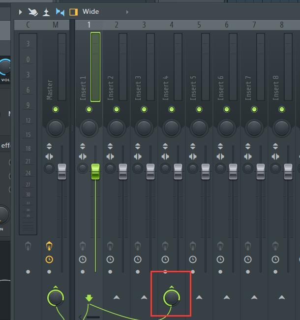 打开音轨发送开关后的混音器界面