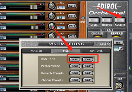 加载与保存音色效果