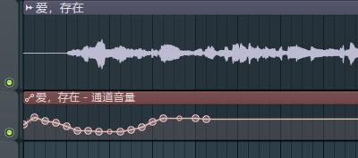 编辑音量包络线界面