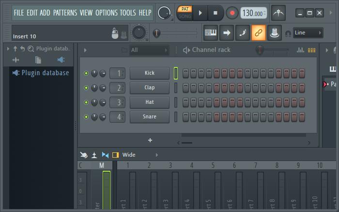 FL Studio界面