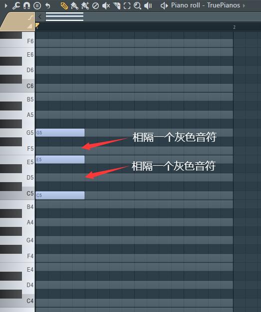 三和弦音符的排列规则