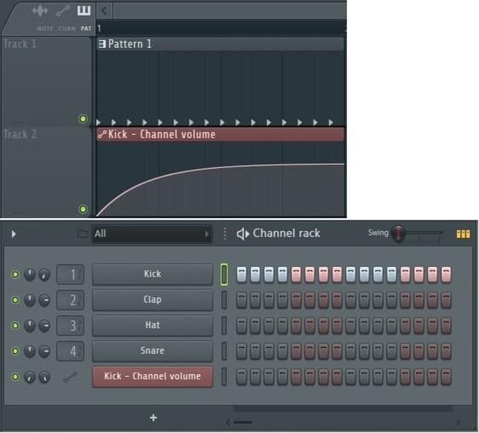 FL Studio 通道机架kick