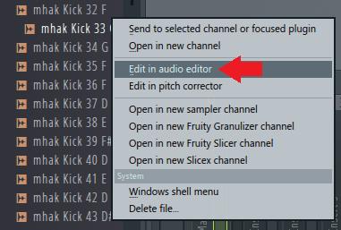 浏览器在音频编辑器中编辑