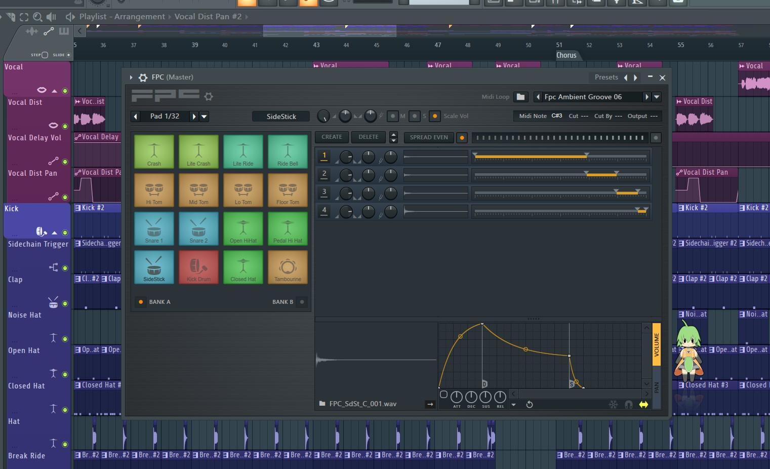FL Studio中的FPC鼓机