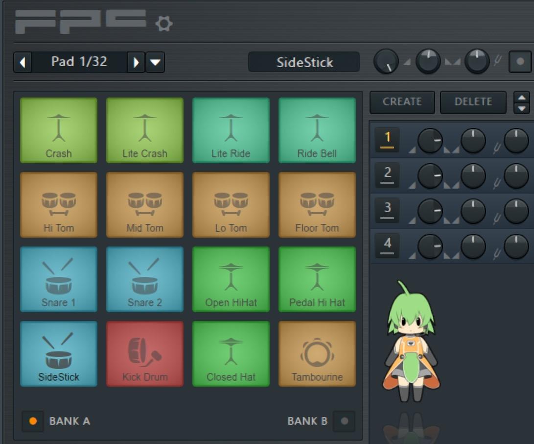 FL Studio FPC鼓机打击垫