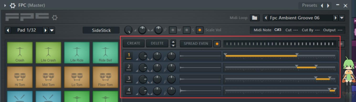 FL Studio FPC鼓机示例调整