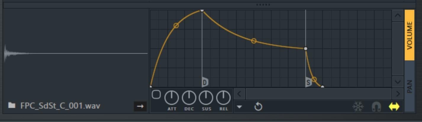 FL Studio FPC鼓机包络线调整