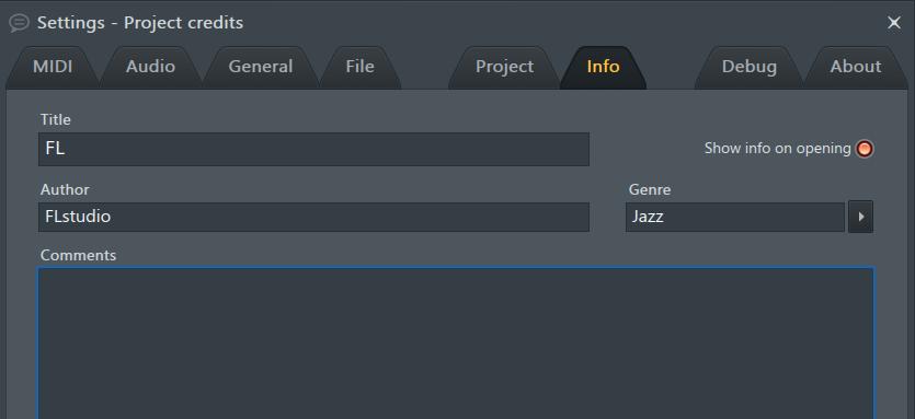 项目信息页面