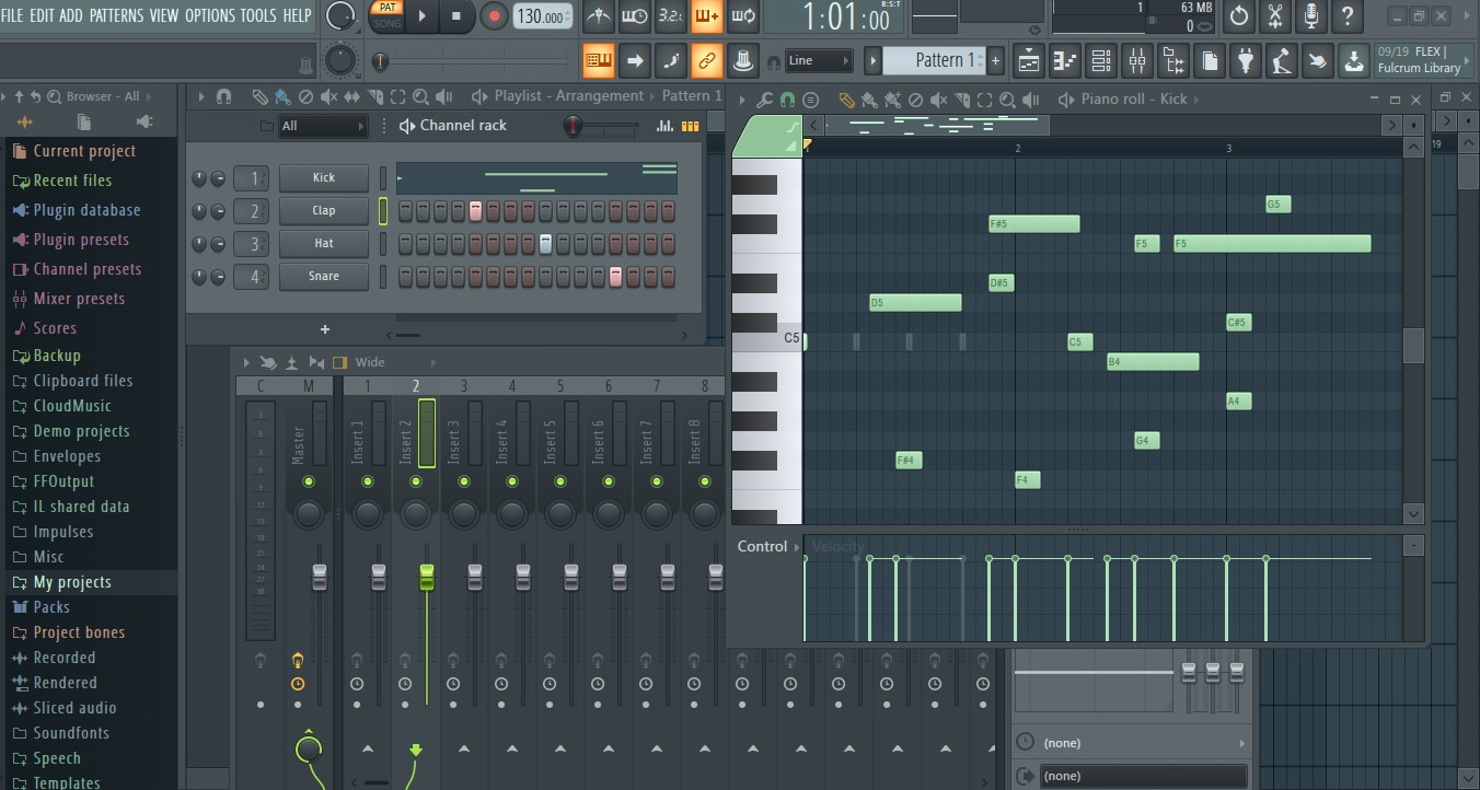 FL Studio编曲软件界面