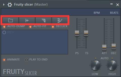 Fruity Slicer功能按钮