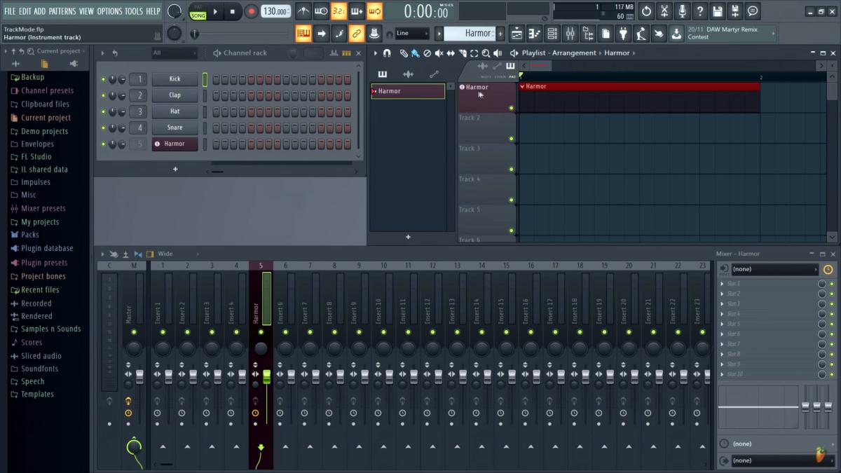 FL Studio20.1界面