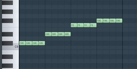 FL Studio钢琴卷轴中的切割命令