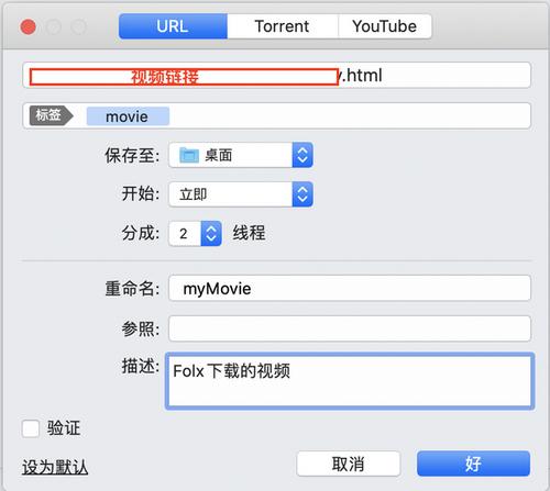 图4:下载视频相关设定界面