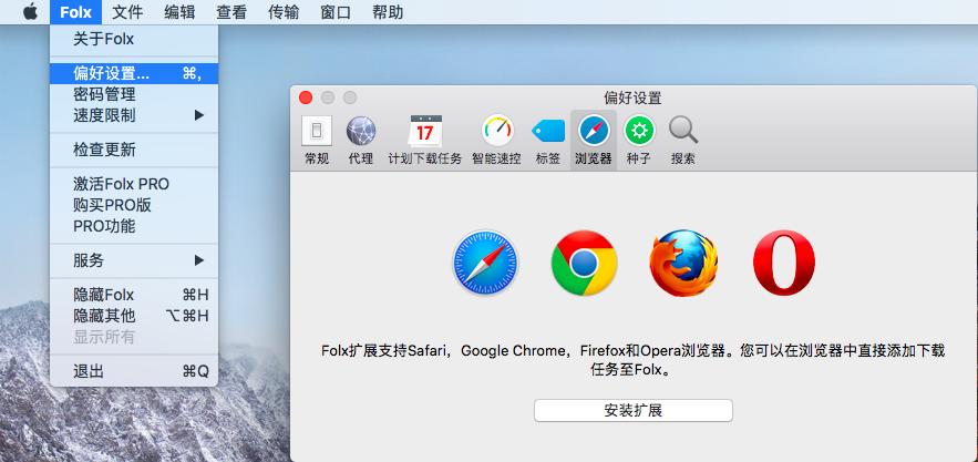 图1:安装Folx浏览器扩展插件