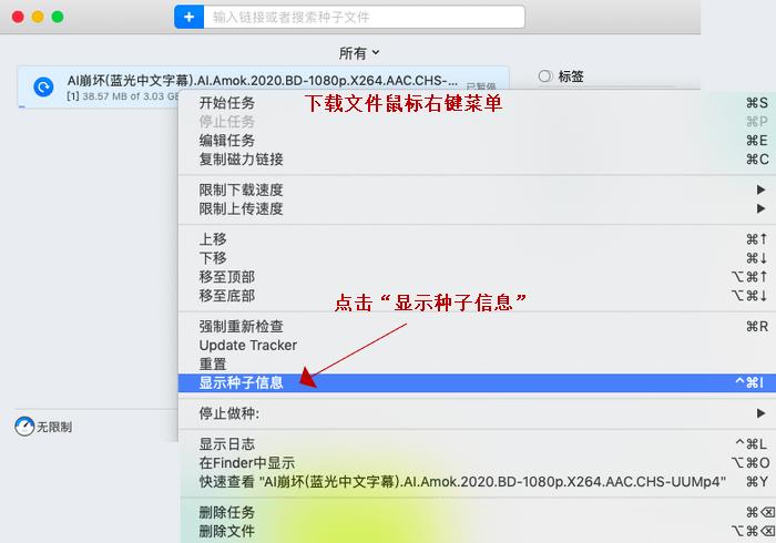 图1:下载文件鼠标右键菜单