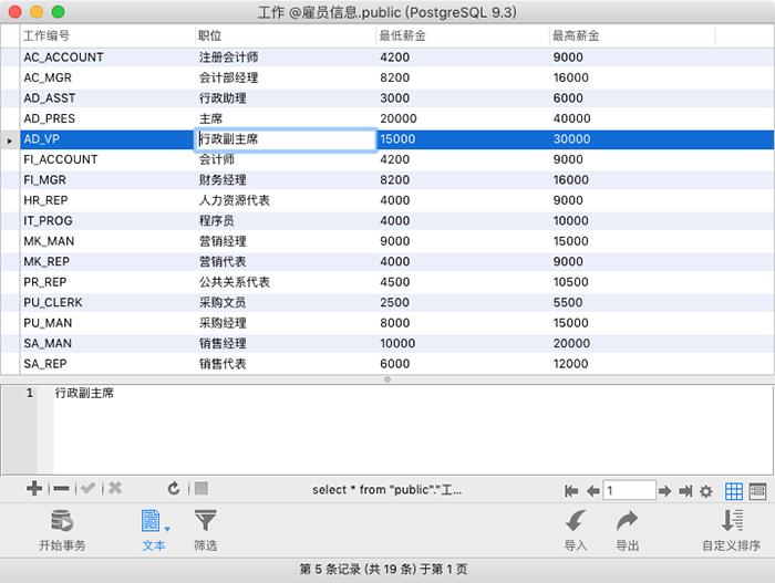 Navicat for PostgreSQL Mac 查看网格或表单