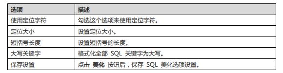 Navicat 设置 SQL 格式