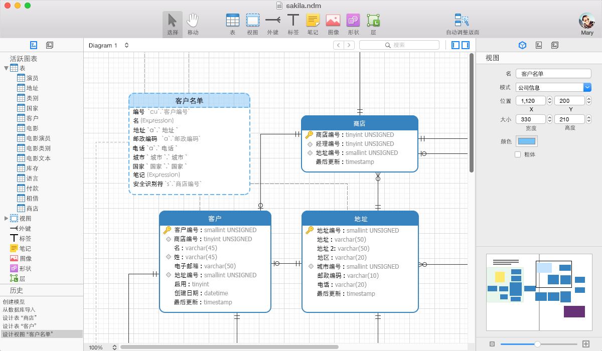 创建数据模型
