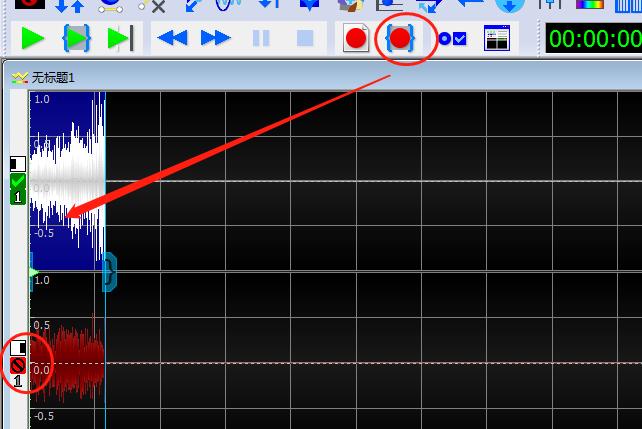 圖三:選中單軌錄制界面