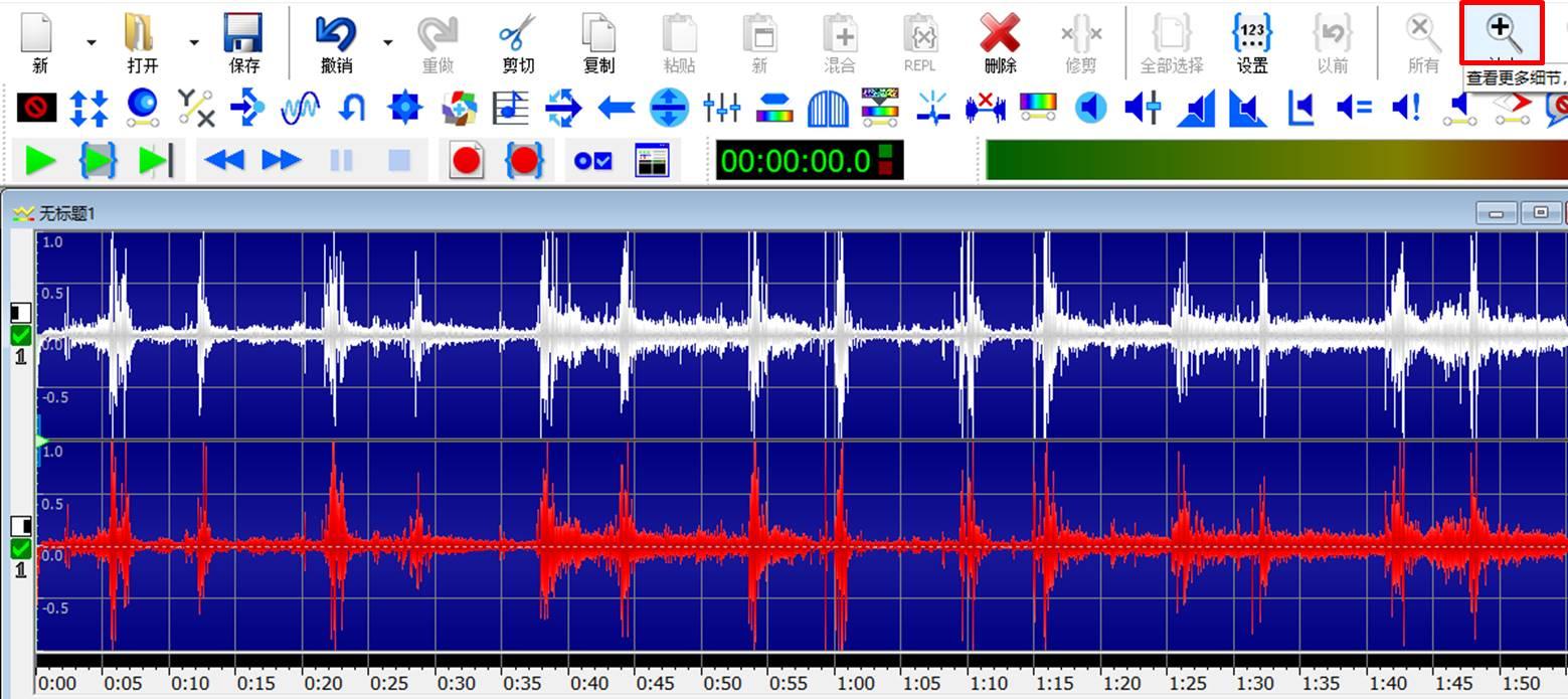 图5:放大声波显示