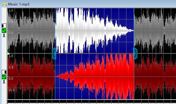 图8:从左到右平移的波形显示