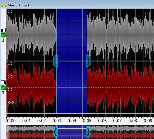 图6:静音所选音频片段