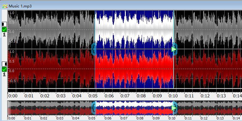 图3:完成音频片段的选取