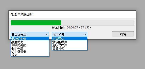 图三:打开视频文件时的设置界面