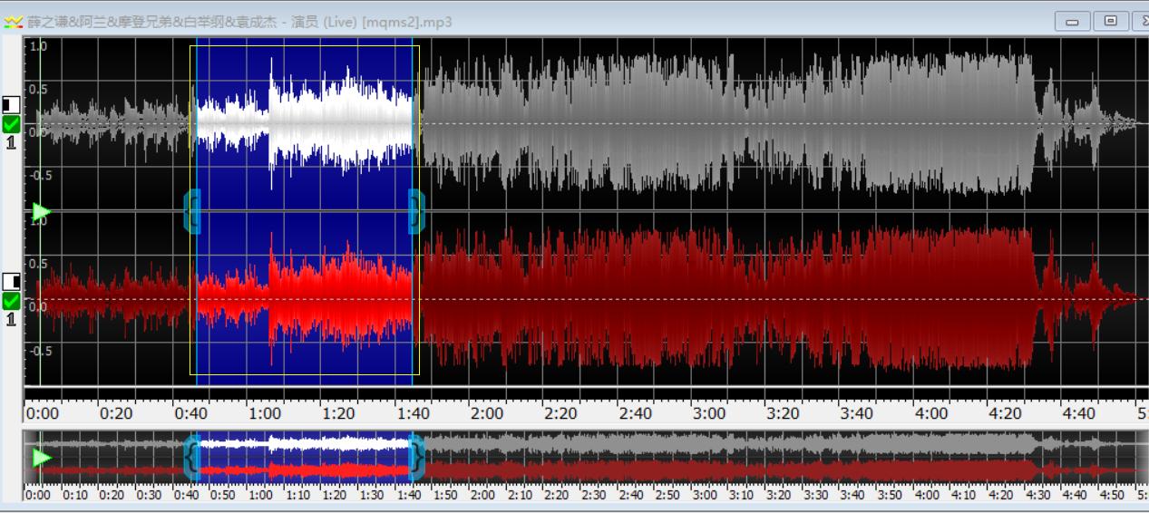 图片六:操作完成的音轨图像
