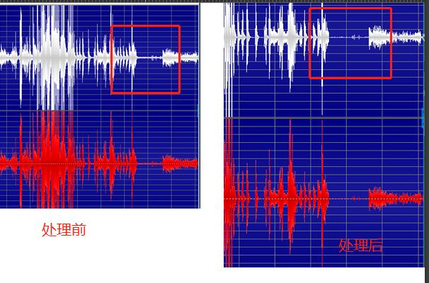 图七:降噪前后效果对比界面