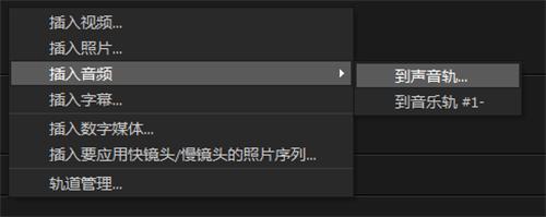 图九:将制作好的音频导入会声会影界面