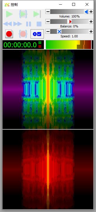 """圖一:""""左/右""""""""凸""""效果顏色選擇對比界面"""