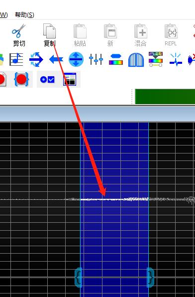图二:GoldWave中文版对噪音进行取样界面