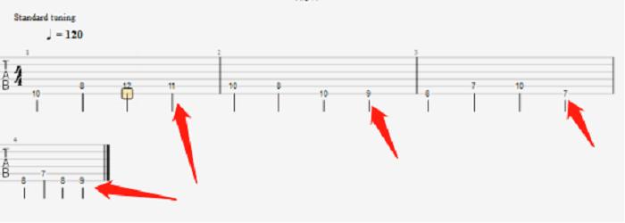 walking bass乐句低音部分经过音示意图