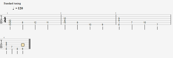 walking bass乐句(加入和弦)