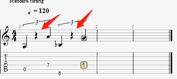 三連音示意圖