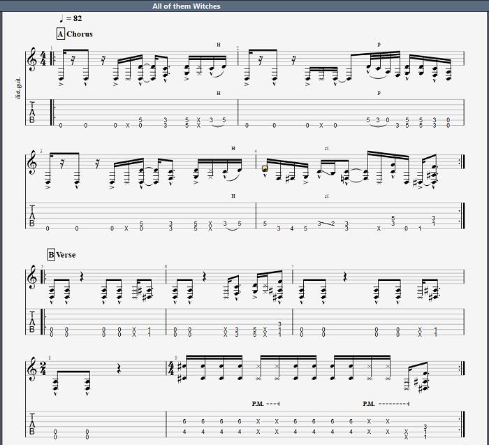 如何使用Guitar Pro修改曲谱排版