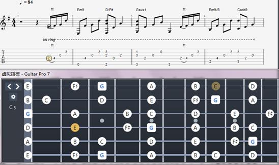 吉他指板音階圖