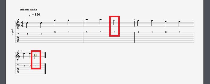 二分音符更改方法