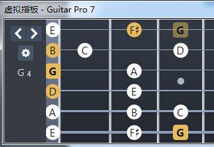 G、Gmaj7和弦内音示意图