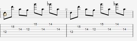 Guitar Pro 前奏部分樂句