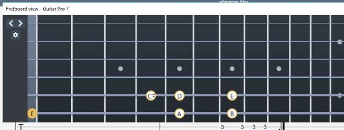 Guitar Pro指板图