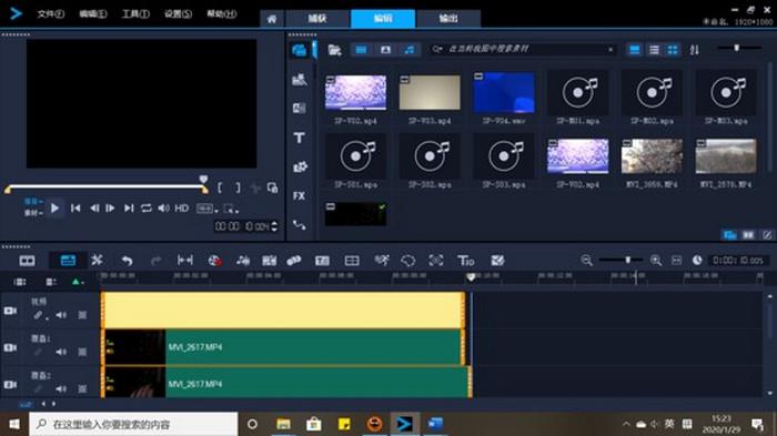 图4:复制视频素材并进行剪裁