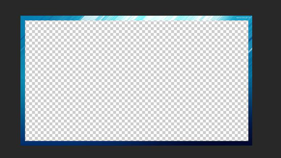 蓝色拉丝边框