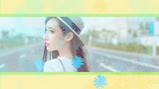 MG动画小清新美女快节奏相册