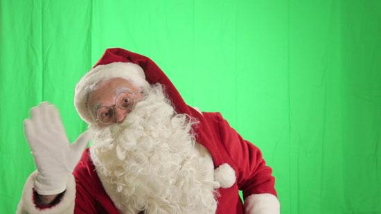 绿幕圣诞老人