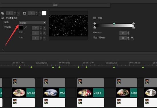 叠加背景视频效果