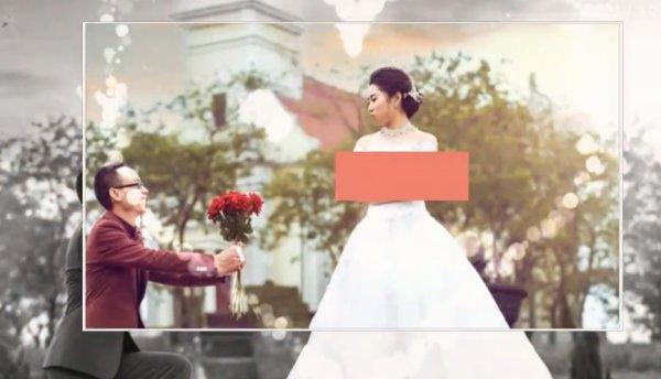 清新雅致MG婚礼照片展示模板1