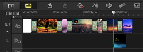 在覆叠轨18秒的位置插入视频