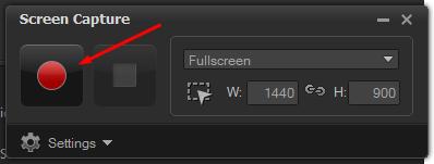 捕获屏幕按钮